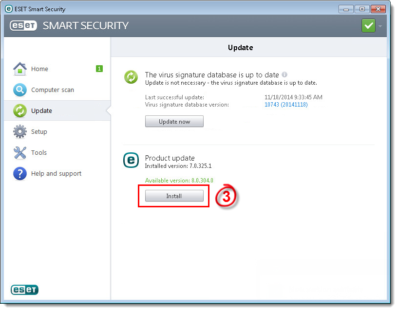 Install a newer version of your ESET product