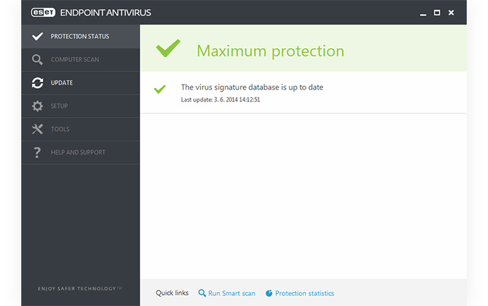 ESET Endpoint Antivirus - Protect Status