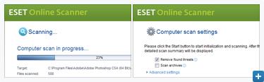 ESET Online Scanner Screenshot Gallery
