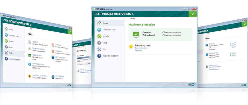 Screenshot Gallery for ESET NOD32 Antivirus 5