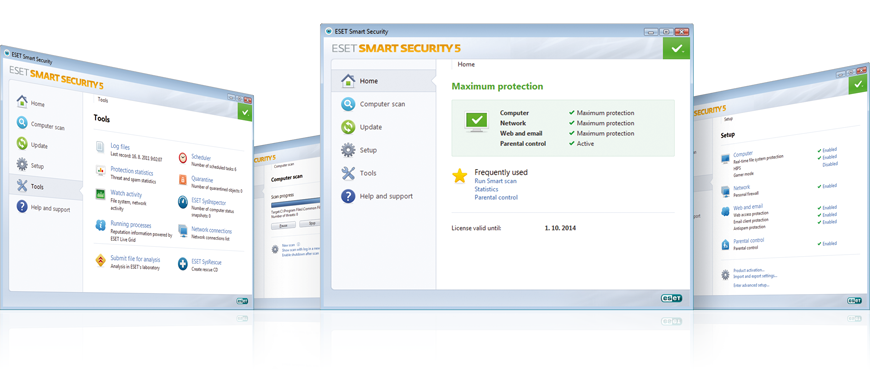 Screenshot Gallery for ESET Smart Security 5